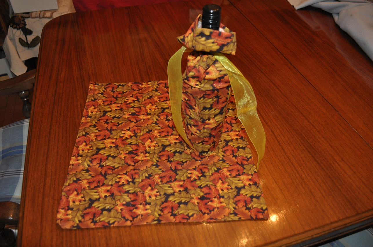 REUSABLE CLOTH GIFT BAGS-AUTUMN LEAVES