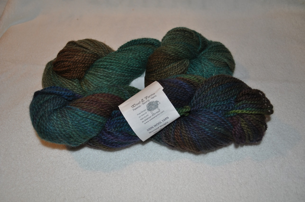 WORSTED WEIGHT YARN-MULTI TEAL