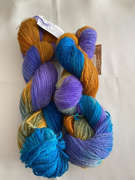 FINGERING WEIGHT YARN-PURPLE/TURQUOISE