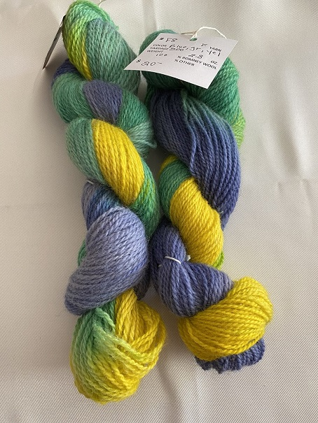 FINGERING WEIGHT YARN-BLUE/GREEN/YELLOW