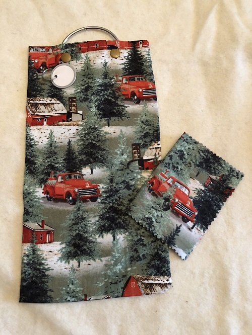 Embroidery Floss Keeper Bag-Red truck