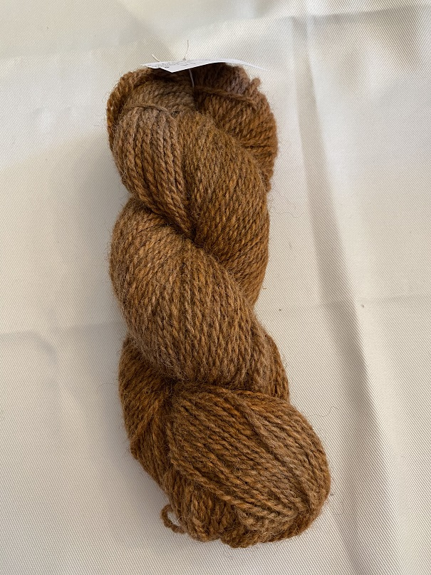 WORSTED WEIGHT YARN-BROWN