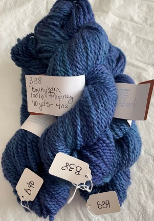 BULKY WEIGHT YARN-BLUE