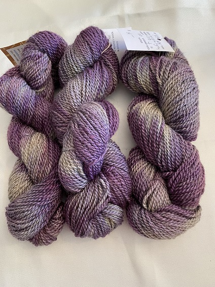 WORSTED WEIGHT YARN-PURPLE/GRAY