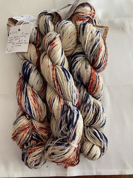 FINGERING WEIGHT YARN-PATRIOTIC WHITE
