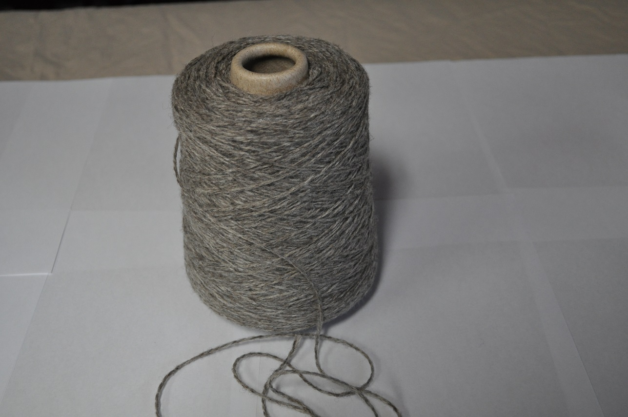 2 Ply Gray Sport Weight Yarn on Cones