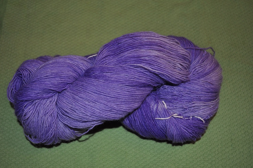 Single ply yarn-Lilac